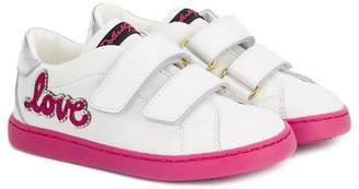 Dolce & Gabbana love patch sneakers