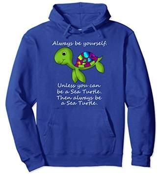 Funny I Love Sea Turtle Cartoon Graphic Cute Gift Hoodie