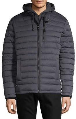 Buffalo David Bitton Quilted Hooded Fleece Bib Jacket
