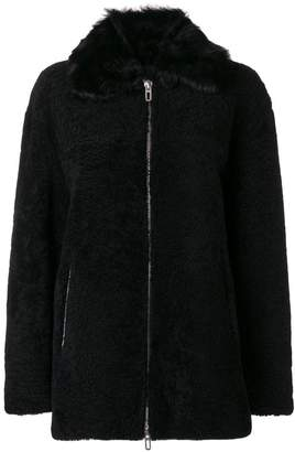 Drome zipped shearling coat