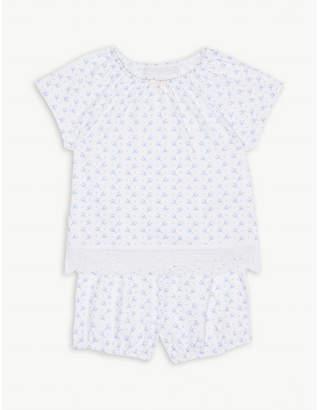 The Little White Company Floral print cotton pyjamas 0-24 month