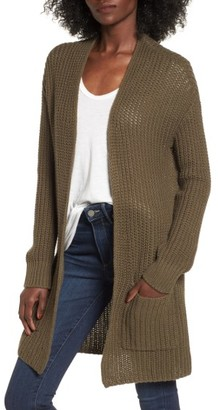 Women's Trouve Lace-Up Back Cardigan $79 thestylecure.com