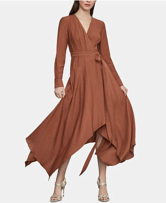 BCBGMAXAZRIA Asymmetrical-Hem Wrap Dress