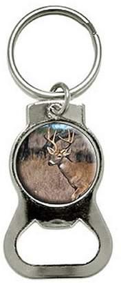 Generic Deer Hunting Bottle Cap Opener Keychain Key Ring