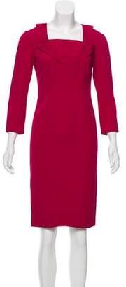 Valentino Long Sleeve Knee-Length Dress