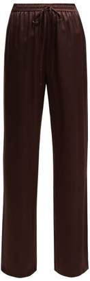 Raey Silk Satin Pyjama Trousers - Womens - Burgundy
