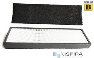 Germ Guardian NISPIRA Premium True HEPA Filter Replacement Compatible With GermGuardian FLT4825 Series Air Purifier Filter B For Model AC4825/AC4300/AC4800/AC4900CA/CDAP4500BCA - 1 pk
