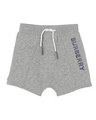 Burberry Derick Fleece Embossed Logo Shorts, Size 6M-2