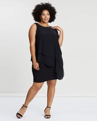 Evans Overlay Short Dress