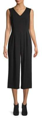 Calvin Klein Sheer-Back Cropped Jumpsuit