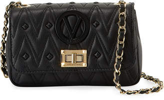 Mario Valentino Valentino By Noelle D Sauvage Studs Quilted Leather Crossbody Bag