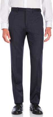 American Designer Navy Flat Front Wool Suit Pants