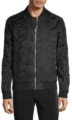 Karl Lagerfeld Paris Camo Bomber Jacket