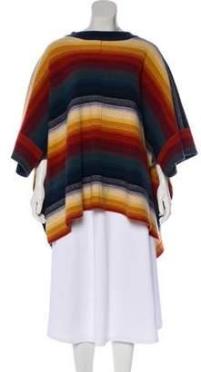 Chloé 2017 Striped Wool Poncho