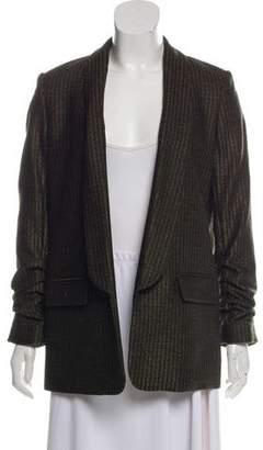 Veronica Beard Wool-Blend Shawl-Lapel Open Front Blazer