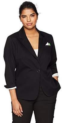 Rafaella Women's Plus Size Weekend Getaway Blazer
