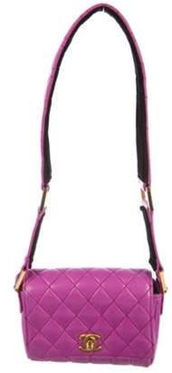 Chanel Quilted Mini Shoulder Bag Violet Quilted Mini Shoulder Bag