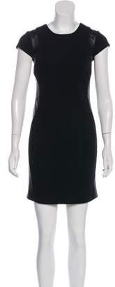 Diane von Furstenberg Pele Leather Mini Dress