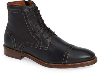Johnston & Murphy Warner Cap Toe Boot