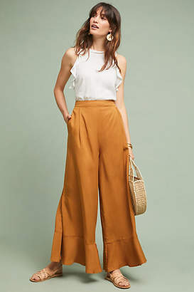 Sancia Violeta Ruffled Wide-Leg Pants