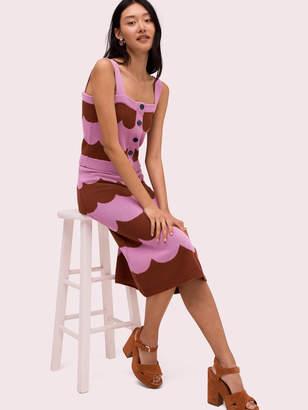 Kate Spade scallop stripe knit skirt