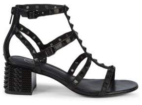 158848f3791 Ash Rolls Bis S Studded Block Heel Sandals