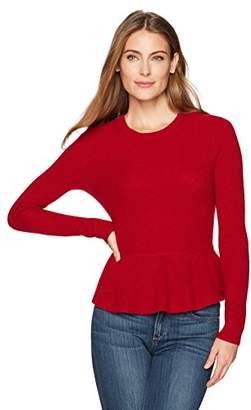 Lark & Ro Women's 100% Cashmere Peplum Sweater