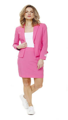 OppoSuits Women Ms. Pink Solid Suit