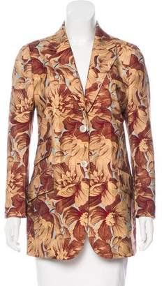 Gucci Floral Print Wool Blazer w/ Tags
