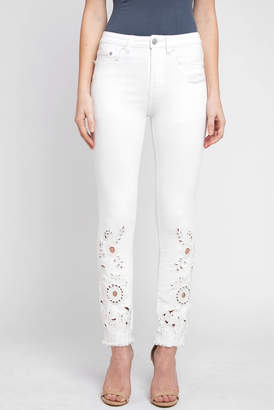 Free People Cutwork Cigarette Jean