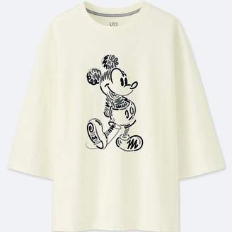 Uniqlo Women's Love & Mickey Mouse Collection Graphic T-Shirt