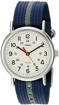 Timex Unisex T2N654 Weekender Nylon Slip-Thru Strap Watch