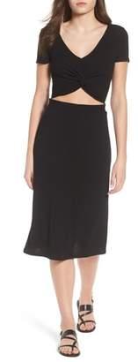BP Twist Front Midi Dress
