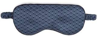 Derek Rose Brindisi 26 Reversible Silk Satin Eye Mask - Womens - Navy