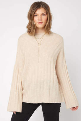 Neely Mock Neck Ribbed Pullover