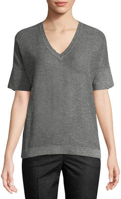 Piazza Sempione Knit Cotton-Blend Top