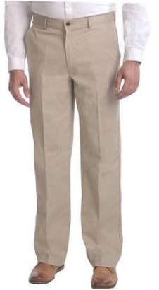 George Big Men's Flat Front Wrinkle Resistant Pants