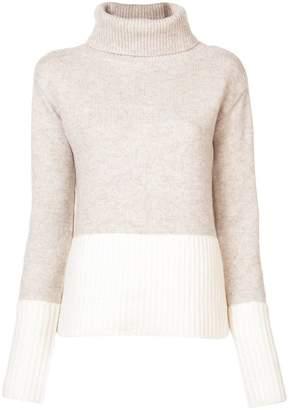 Derek Lam 10 Crosby Turtleneck Sweater with Contrast Rib Detail