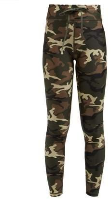 The Upside Camouflage Print Leggings - Womens - Green Multi