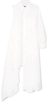 MM6 MAISON MARGIELA Asymmetric Cotton-poplin Dress - White