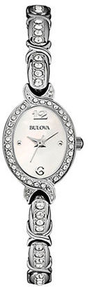 Bulova Ladies' Swarovski Crystal-Accented Stainless Steel Bangle Watch, 96L199 $250 thestylecure.com