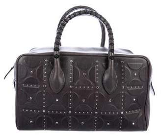 Alaia Studded Embossed Leather Bag