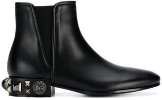 Dolce & Gabbana embellished heel Chelsea boots