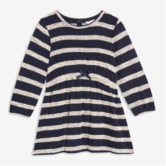 Joe Fresh Baby Girls' Stripe Soft Knit Dress, Navy (Size 18-24)