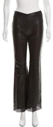 Celine Mid-Rise Perforated Leather Pants