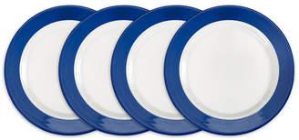 Q Squared Bistro Blue Melamine 4-Pc. Salad Plate Set