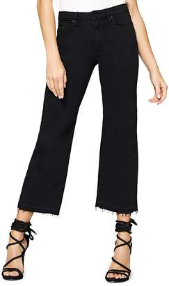 Sanctuary Flare Crop Released Hem Jeans in Black