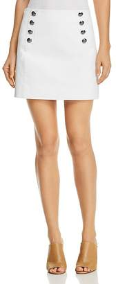 Rebecca Minkoff Sloane Button-Detail Mini Skirt