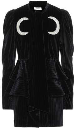 ATTICO The Striped velvet dress