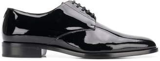 Saint Laurent varnished lace-up shoes
